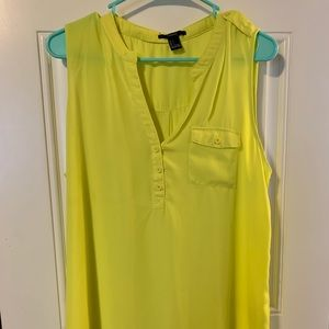 Yellow Forever 21 tank